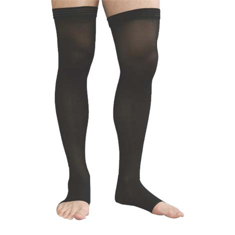 Advanced Orthopaedics Open Toe Thigh High 30-40 mmHg Unisex Compression Stockings With Uni-Band