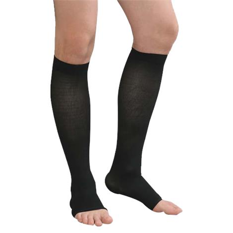 Advanced Orthopaedics Open Toe Knee High 30-40 mmHg Unisex Compression Stockings