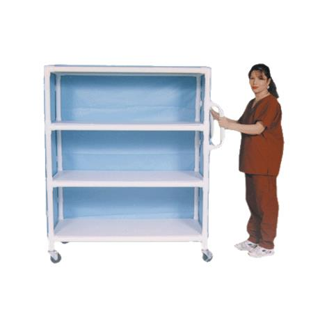 Graham-Field PVC Linen Cart With Cover