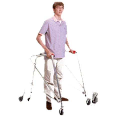 Kaye PostureRest Four Wheel Large Walker With Seat, Front Swivel Wheel And Forearm Support Option