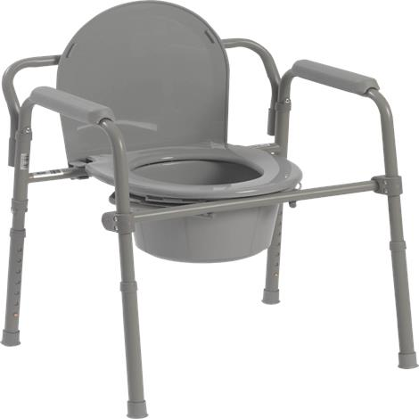 Drive Competitive Edge Line Folding Bariatric Steel Commode
