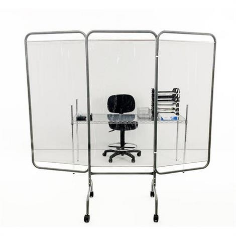 Buy R&B Antimicrobial Three Panel Clear Barrier