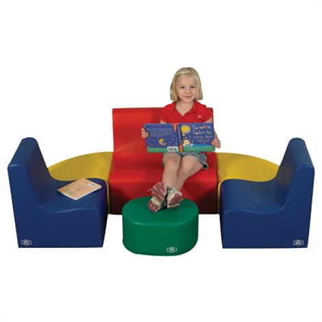 Childrens Factory Medium Tot Primary 6 Piece Contour Seating