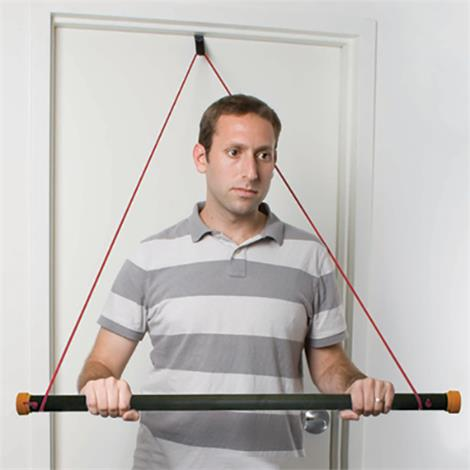 CanDo Over Door Exercise Pulley With Bar And Tubing