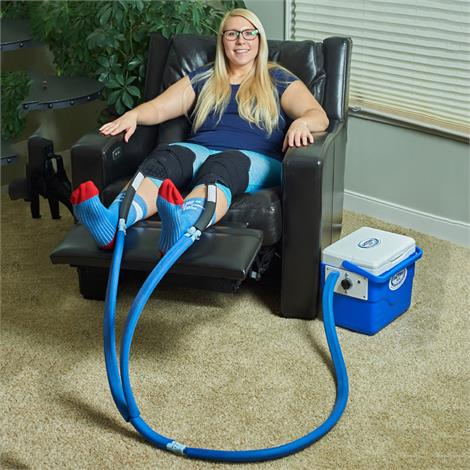 Polar Active Ice 2.0 Double Knee And Joint Cold Therapy System With 9 Quart Cooler