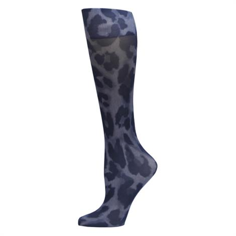 Complete Medical Cougar Denim Knee High Compression Socks