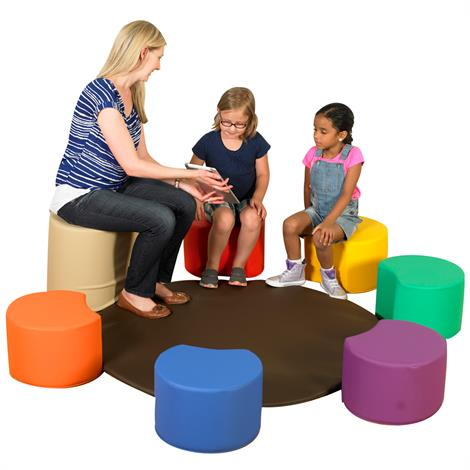 Childrens Factory Painters Stool with Teachers Seat and Mat
