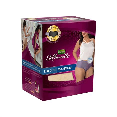 Depend Silhouette Incontinence Briefs For Women - Maximum Absorbency