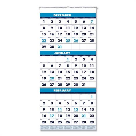 Buy House of Doolittle 100% Recycled Three-Month Format Wall Calendar