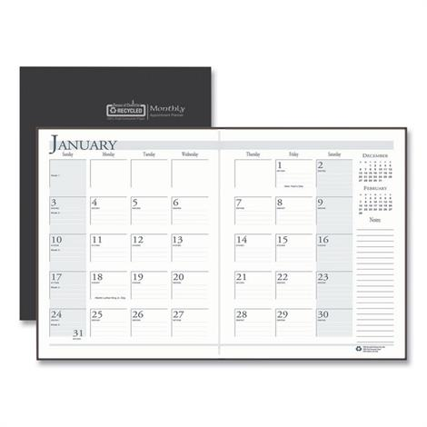 Buy House of Doolittle 100% Recycled Ruled 14-Month Planner with Stitched Leatherette Cover
