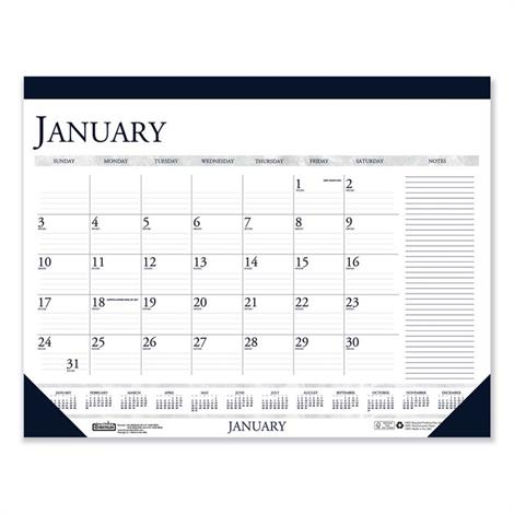 Buy House of Doolittle 100% Recycled Two-Color Monthly Desk Pad Calendar with Large Notes Section