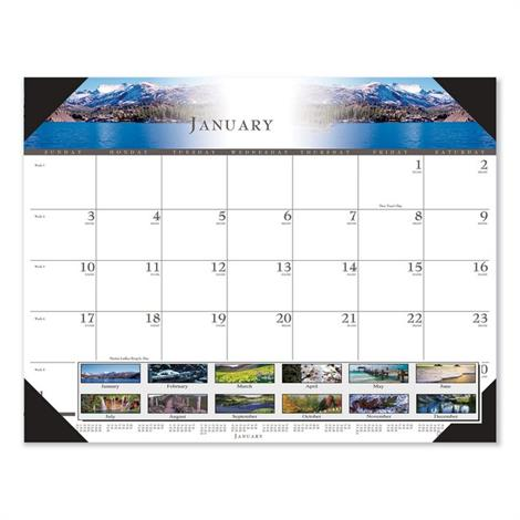 Buy House of Doolittle 100% Recycled Full-Color Photo Monthly Desk Pad Calendar