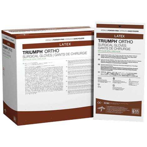 Medline Triumph Ortho With Aloe Vera Latex Surgical Gloves