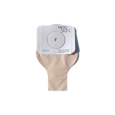 Flexicare Coloset D1 One-Piece Standard Wear Flat Pre-Cut Clear Drainable Pouch