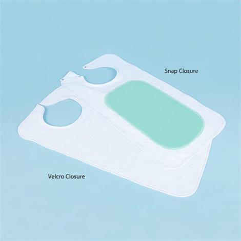 Buy Adult Mealtime Reversible Vinyl-Backed Bib With Snap Closure