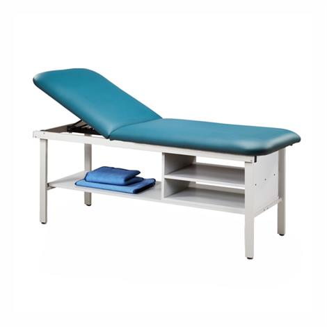 Clinton Eco-Friendly Steel Treatment Table with Shelving