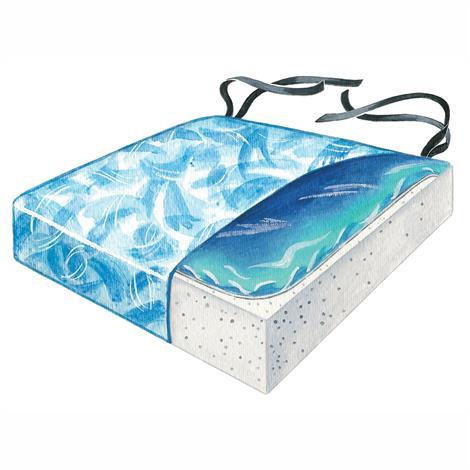 Skil-Care Sittin Pretty Bimini Blue Gel-Foam Cushion