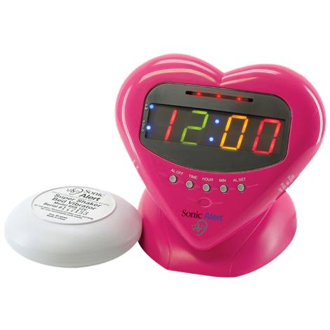 Sonic Boom Sweetheart Alarm Clock with Super Shaker