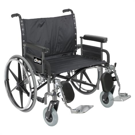 Drive Bariatric Deluxe Sentra Heavy Duty Extra Wide Dual Axle Wheelchair