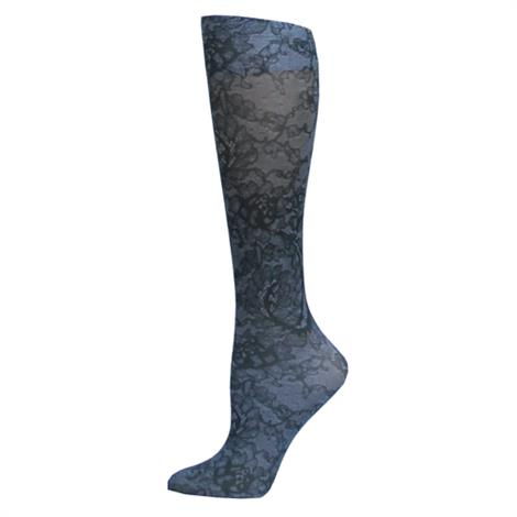 Complete Medical Midnight Lace Knee High Compression Socks
