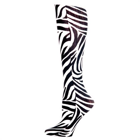 Complete Medical Zebra Knee High Compression Socks