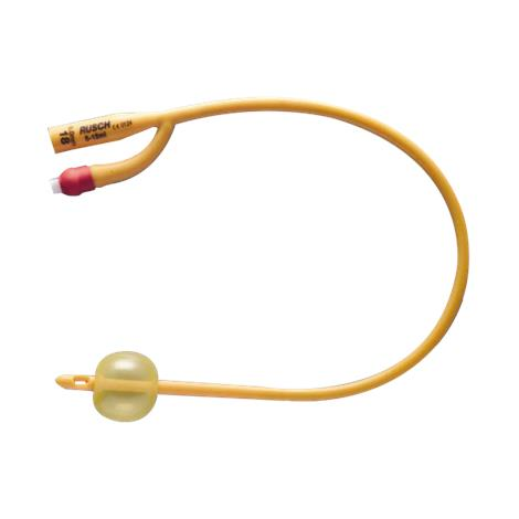 Rusch Gold Two-Way Silicone Coated Latex Pediatric Foley Catheter - 3cc Balloon Capacity