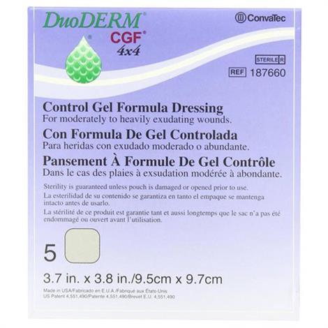 ConvaTec DuoDERM CGF Sterile Dressing - 4 x 4 inch - Square - 187660
