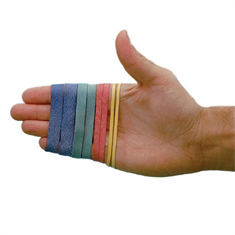 Color-Coded Latex-Free Rubber Bands for Rolyan Ergonomic Hand Exerciser