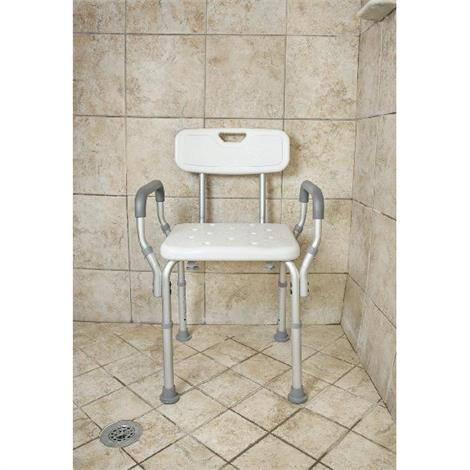 Buy Essential Medical Deluxe Adjustable Molded Shower Bench With Arms