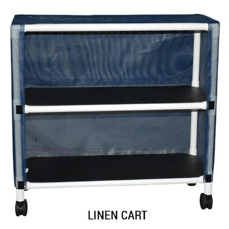 MJM International Echo Two Shelf Linen Cart