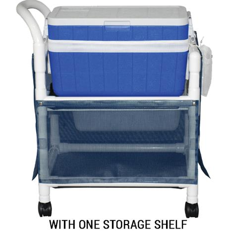 MJM International Hydration Ice Cart with Skirt Cover and 48 Quart Ice Chest