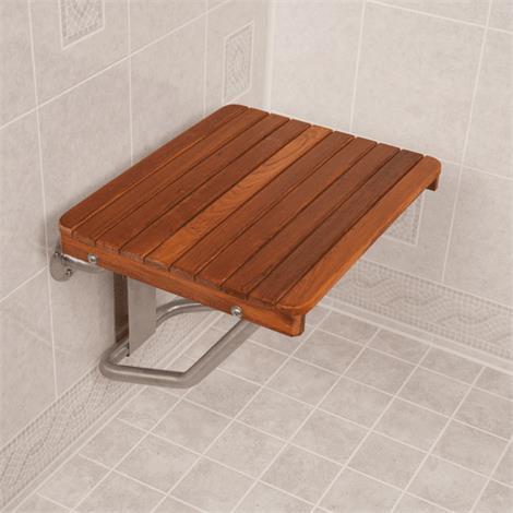 Buy Teakworks4u ADA Compliant Wall Mount Plantation Teak Shower Seat