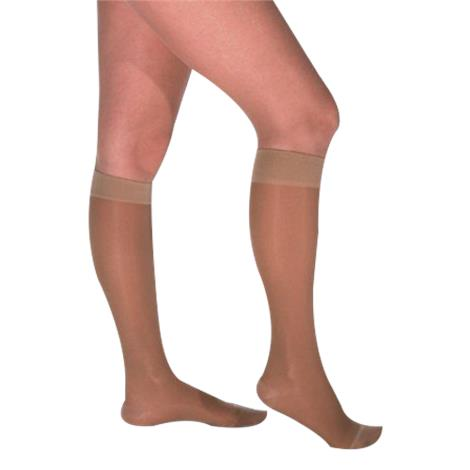 Venosan Legline Closed Toe Below Knee Wide Calf 15-20mmHg Super Sheer Compression Stockings