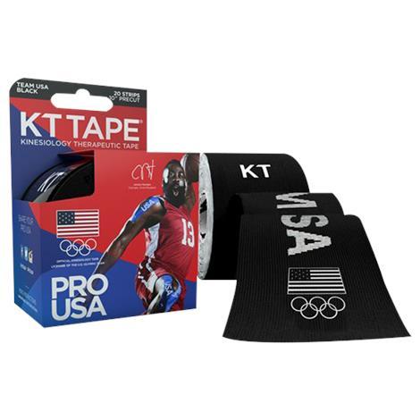 KT Tape Pro Team USA Black Elastic Sports Tape