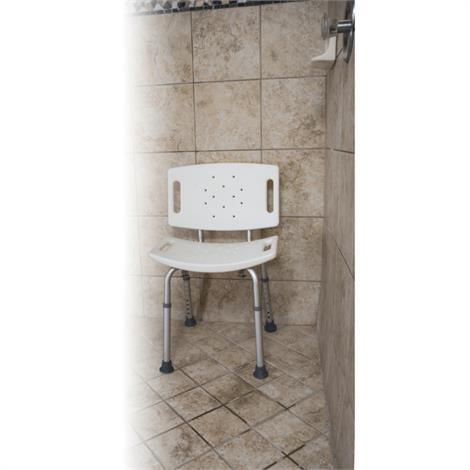 Buy Essential Medical Adjustable White Shower Bench