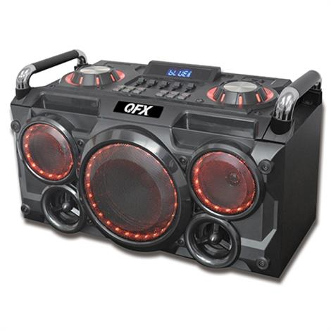 QFX Portable Bluetooth Party Speaker with FM Radio