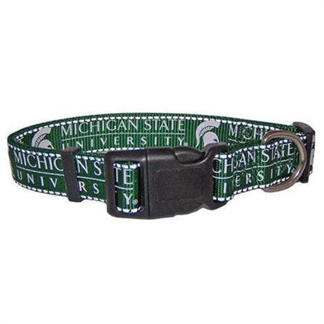 Pet Goods Michigan State Reflective Dog Collar