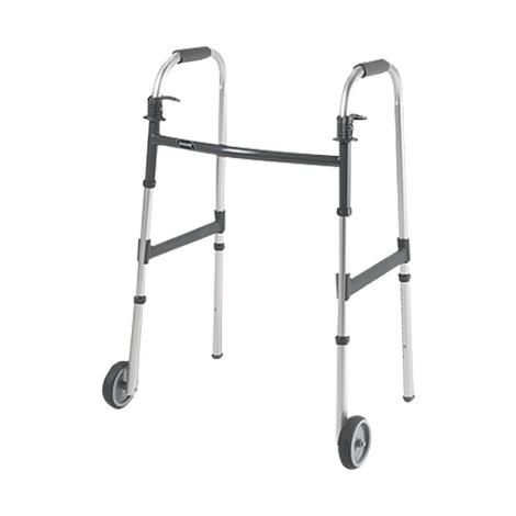 Invacare I-Class Dual Release Adult Paddle Walker With Wheels