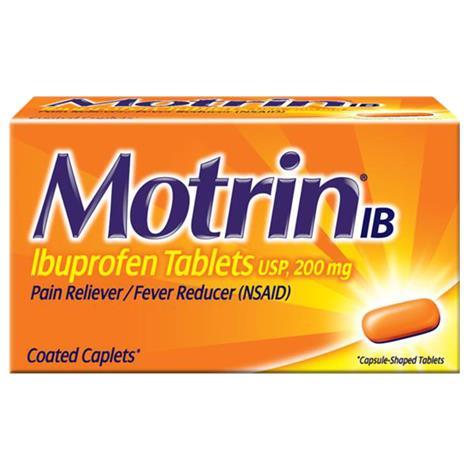 Buy Motrin IB Ibuprofen Pain Reliever Caplets